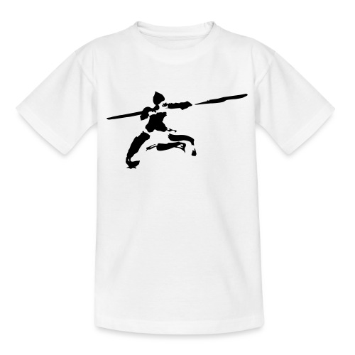 Kungfu stick fighter / ink - Teenage T-Shirt