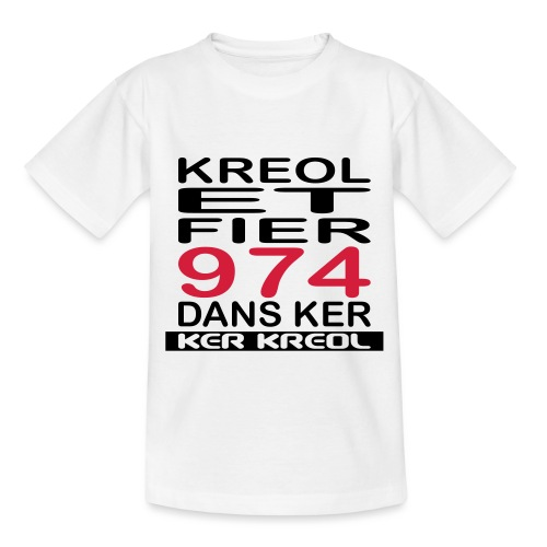 fier et kreol hom 02 ti - T-shirt Ado