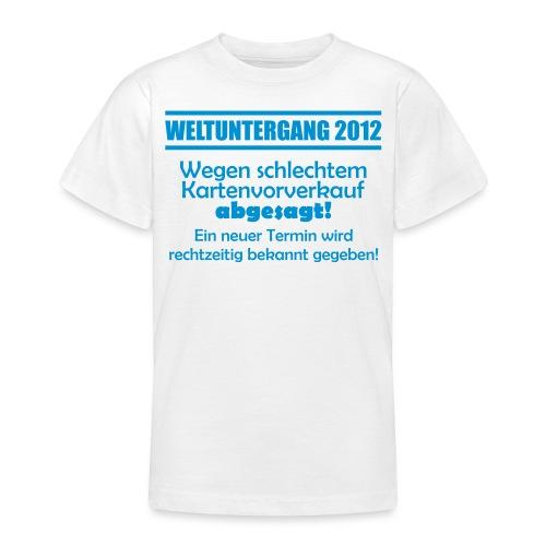 Weltuntergang 2012 - Kartenverkauf - Teenager T-Shirt