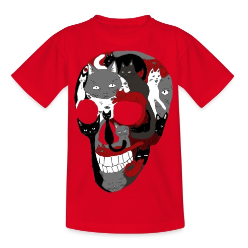 Crâne of the cat - T-shirt Ado