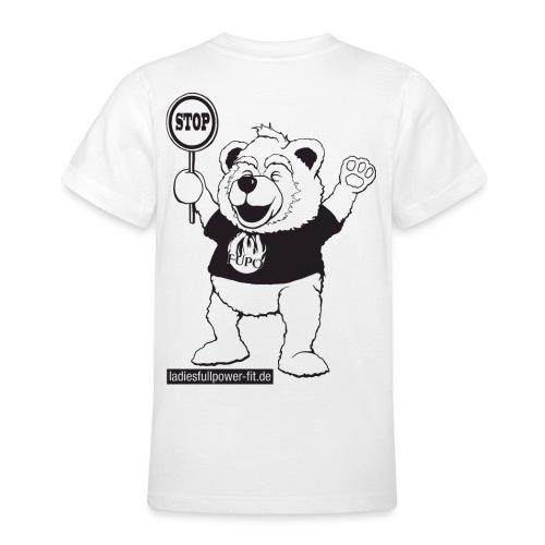 FUPO der Bär. Druckfarbe schwarz - Teenager T-Shirt