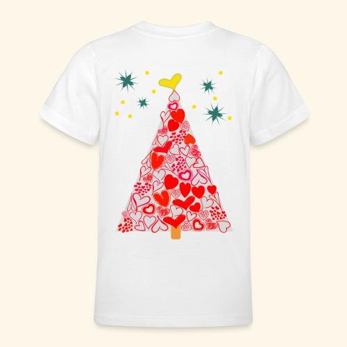 Christbaum der Herzen - Teenager T-Shirt