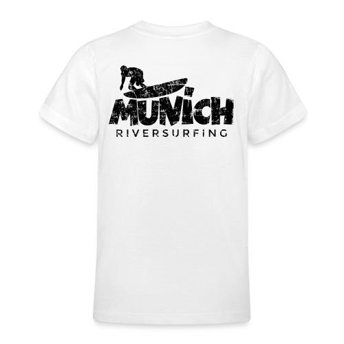 Munich Riversurfing München Surfer Vintage Schwarz - Teenager T-Shirt