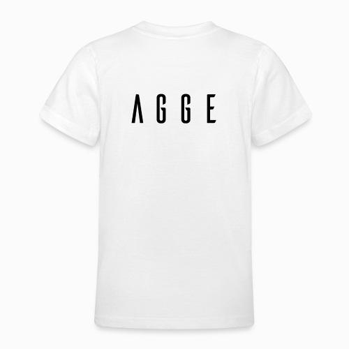 Agge - Svart logga   Bak - T-shirt tonåring