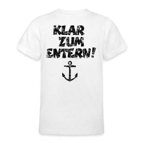 Klar zum Entern Segel Segeln (Vintage/Schwarz) - Teenager T-Shirt
