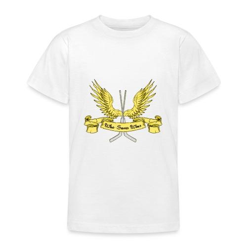 Who Saves Wins, Hockey Goalie - Teenage T-Shirt