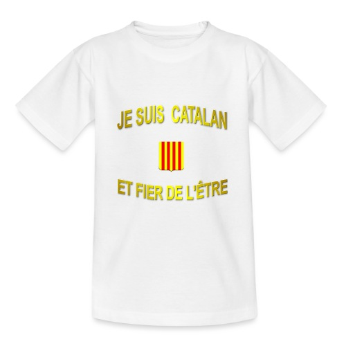 Tee-Shirt supporter du pays CATALAN - T-shirt Ado