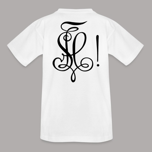 Zirkel, schwarz (hinten) - Teenager T-Shirt