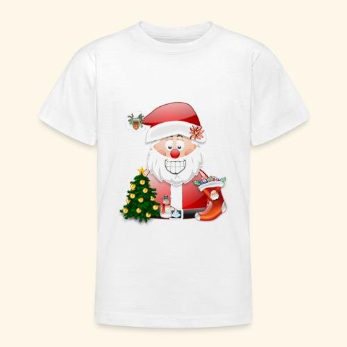 Father Christmas Scene 5 - Teenage T-Shirt