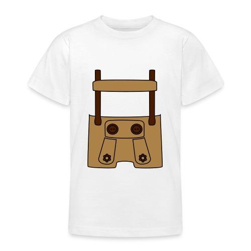 Meine erste Lederhose (vorne) - Teenager T-Shirt