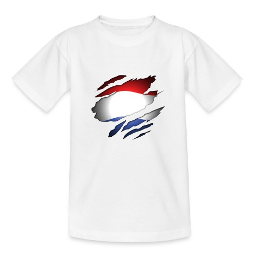 Dutch Inside: Vlag - Teenager T-shirt