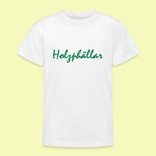 Schriftzug Grün - Teenager T-Shirt