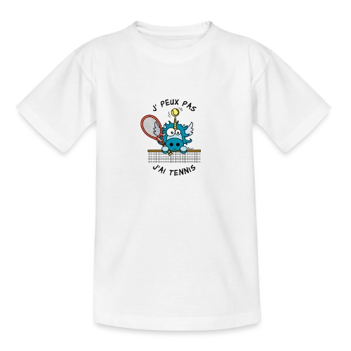 Licorne Bleu, Balle Raquette Tennis - T-shirt Ado
