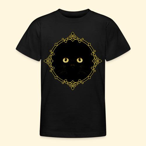Badge Chat Noir - Pixel Art - T-shirt Ado