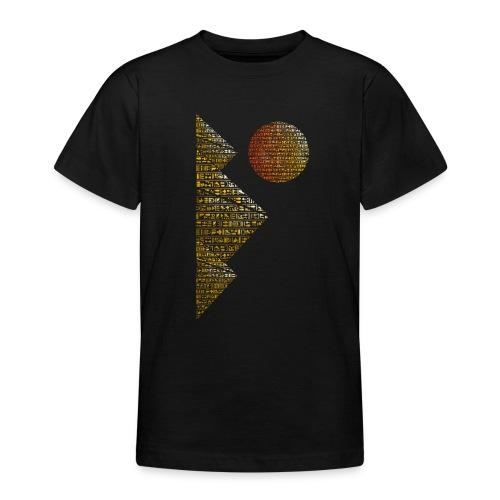 Pyramides hieroglyphic - T-shirt Ado