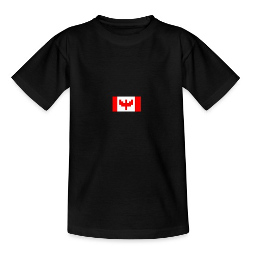 pixel canada flag - Teenage T-Shirt