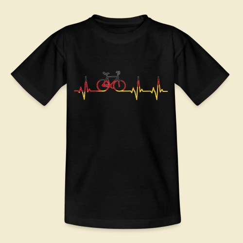 Kunstrad | Artistic Cycling Heart Monitor Germany - Teenager T-Shirt
