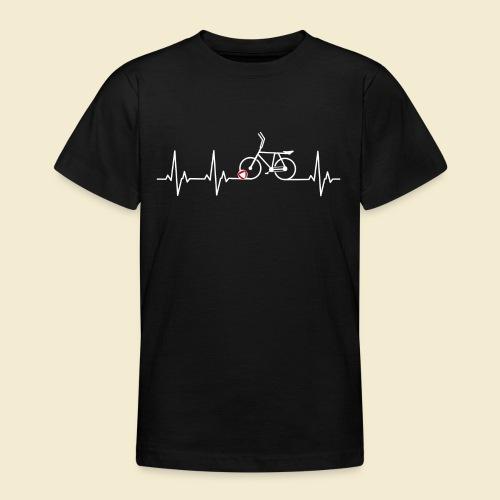 Radball | Heart Monitor White - Teenager T-Shirt