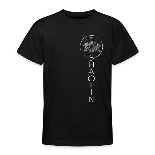 Shaolin Berlin Logo vertikal weiss - Teenager T-Shirt