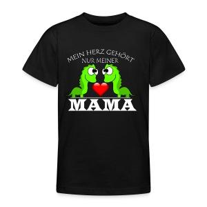 Dino herz mama - Teenager T-Shirt