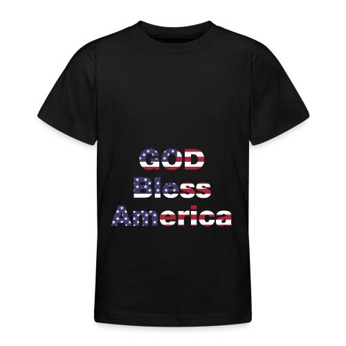 god bless america - Teenage T-shirt