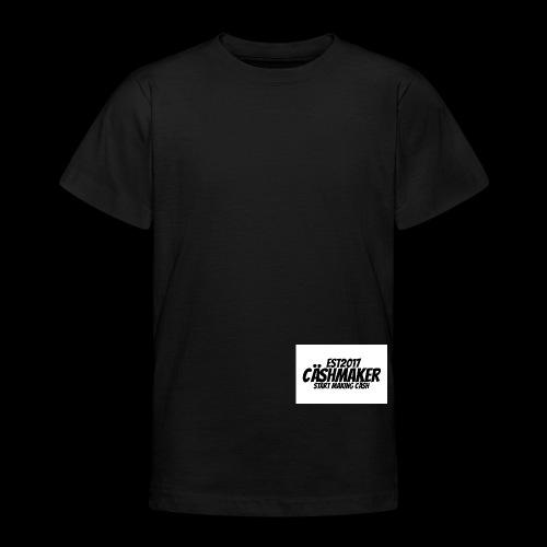 CäshMaker Logo - Nuorten t-paita
