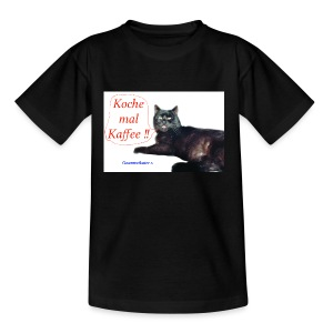 Gourmetkater Kaffee - Teenager T-Shirt