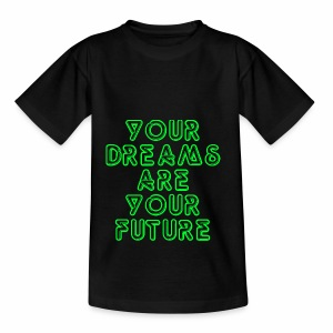 Future Clothing Slogan - Green Text - Teenage T-shirt