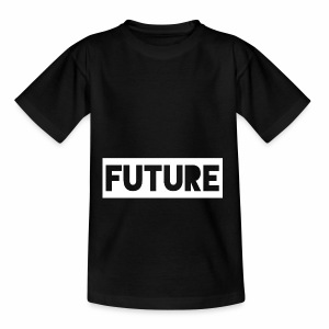 Future Clothing - Text Rectangle (White) - Teenage T-shirt