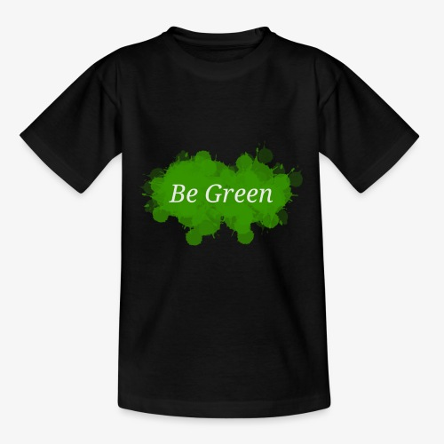 Be Green Splatter - Teenage T-shirt