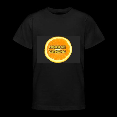 Orange_Logo_Black - Teenage T-shirt
