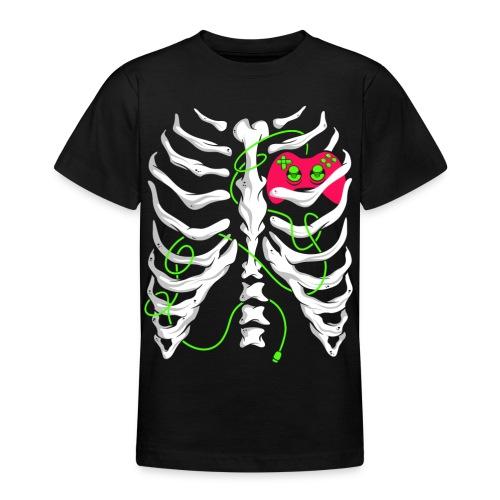 Skelett Gamer Gaming Controller - Teenager T-Shirt