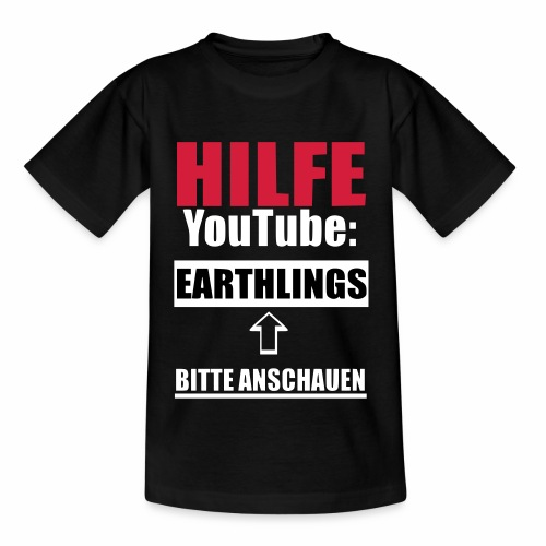 Vegan Earthlings Aktivismus - Teenager T-Shirt