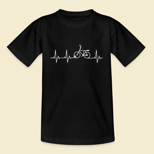 Radball | Heart Monitor White - Teenager T-Shirt