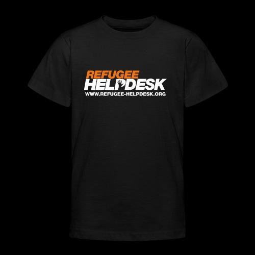 Refugee Helpdesk Logo (Bright) - Teenager T-Shirt