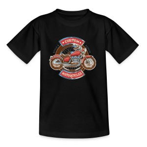 Custom Motorcycles - Camiseta adolescente