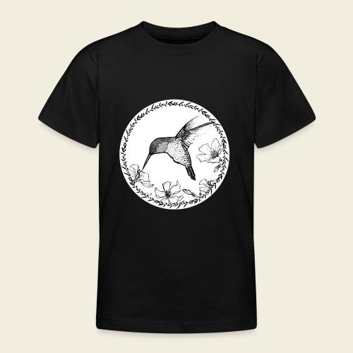 Kolibri Blüten Kreis - Teenager T-Shirt
