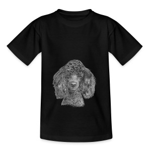 poodle-black-P - Teenager-T-shirt