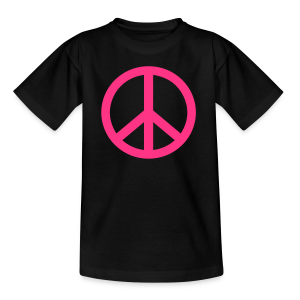 Gay pride peace symbool in roze kleur - Teenager T-shirt