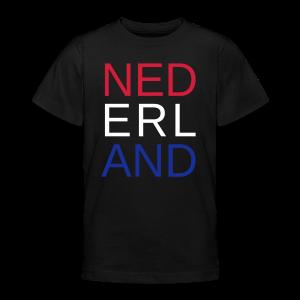 Nederland in de kleuren van de vlag - Teenager T-shirt