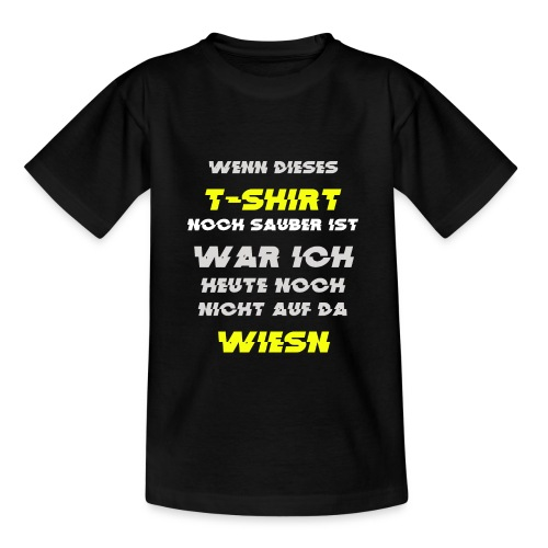 Oktoberfest Wiesn Tshirt Sauber - Teenager T-Shirt