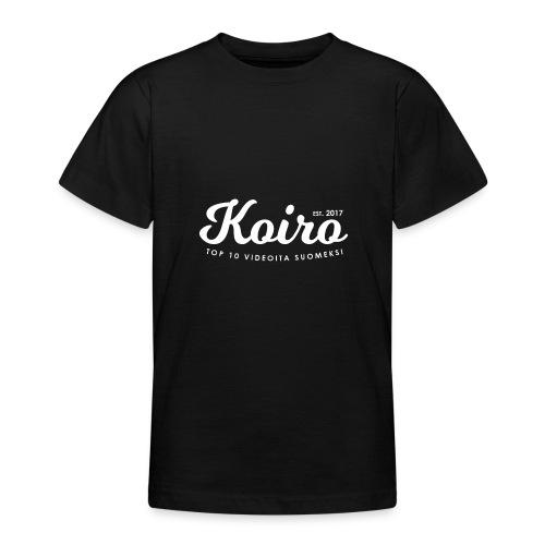 Koiro - Valkoinen Teksti - Nuorten t-paita