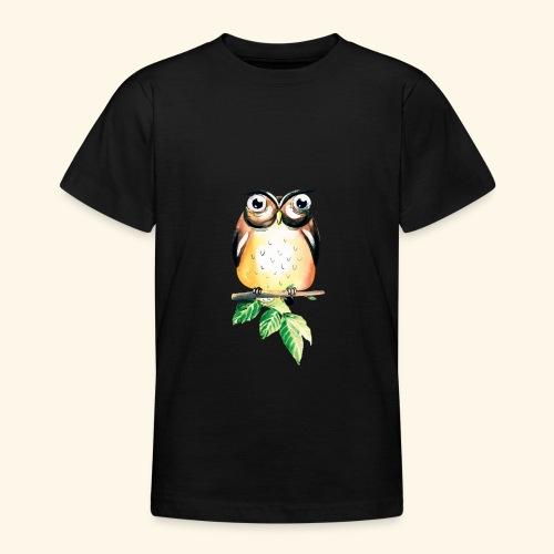 Die aufmerksame Eule - Teenager T-Shirt