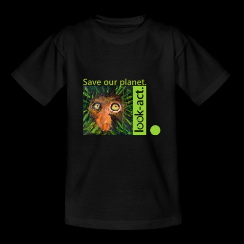 Save our planet. Affe im Regenwald - Teenager T-Shirt