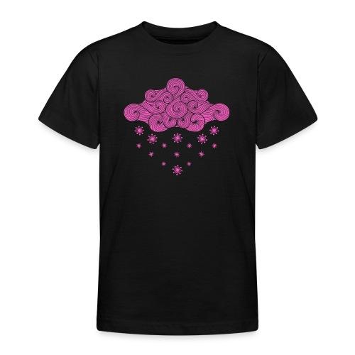 nuage rose et flocons vacances d'hiver - T-shirt Ado