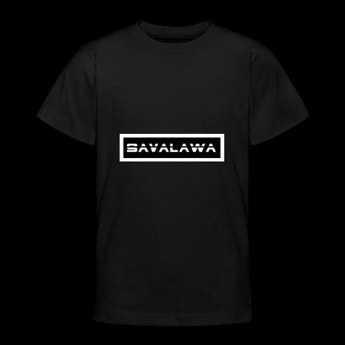 SavaLawa Schrift Schwarz/Weiß - Teenager T-Shirt