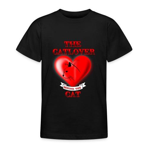 Der Katzenliebhaber hinter der Katze - Teenager T-Shirt