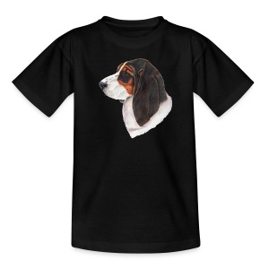 bassethound color - Teenager-T-shirt