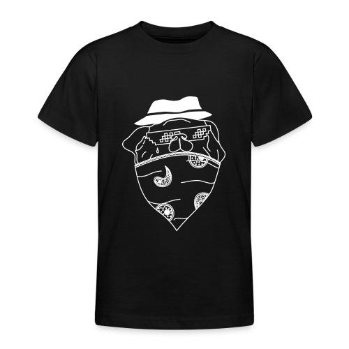 Pølsa The Thug / Pug Thug - T-skjorte for tenåringer