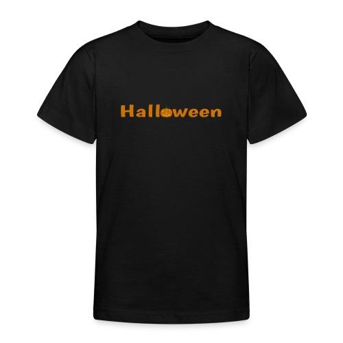 Halloween mit o als Kürbis - Teenager T-Shirt